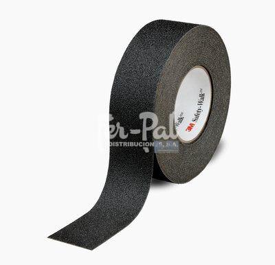 3M™ Safety-Walk™ Alfombrilla Alta Agresividad Soporte Flexible 600 Series, Negro, 19 mm x 18.3 m,