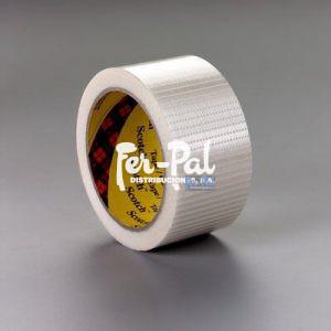 Scotch® Cinta de filamento universal bidireccional 8959, Transparente, 50 mm x 50 m, 0.15 mm
